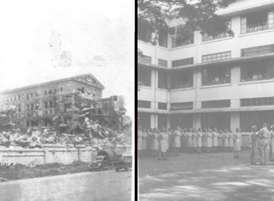 Remains of government building Manila 1944